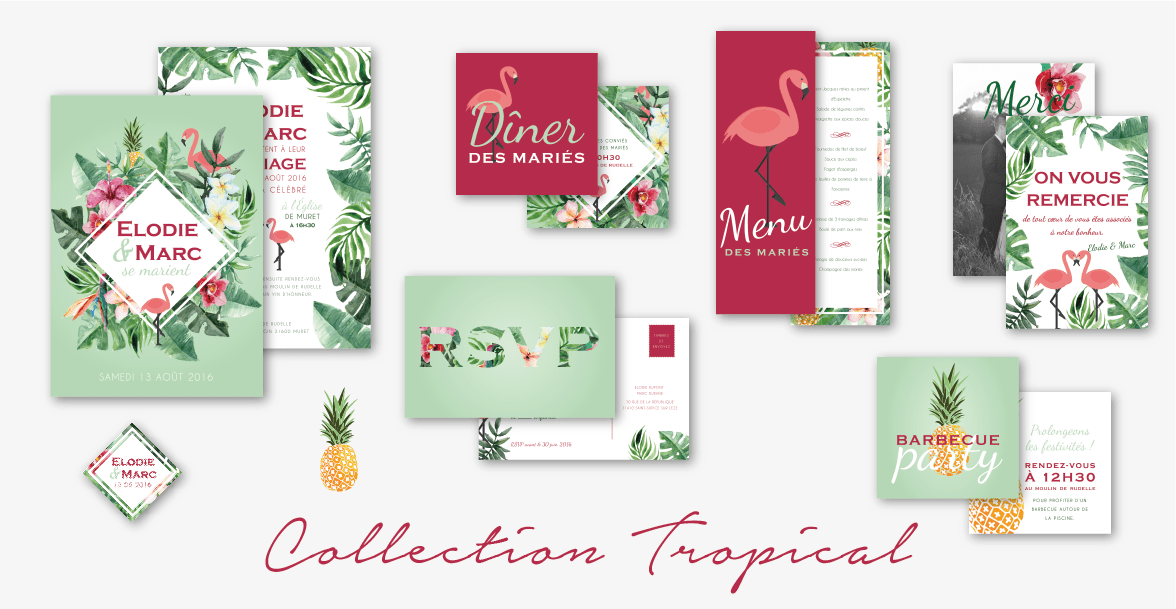 collection-faire-part-mariage-tropical-ananas-flamant-rose