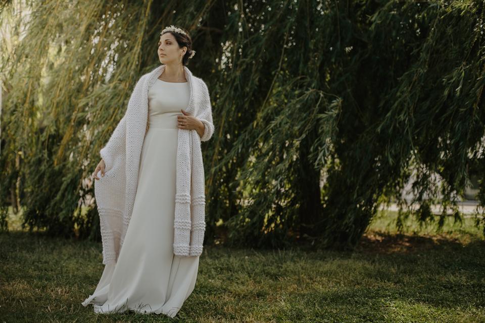 etole xl de mariee etole cocooning mariage tricot geant chaud jersey creation lyon veste tricotee (5)