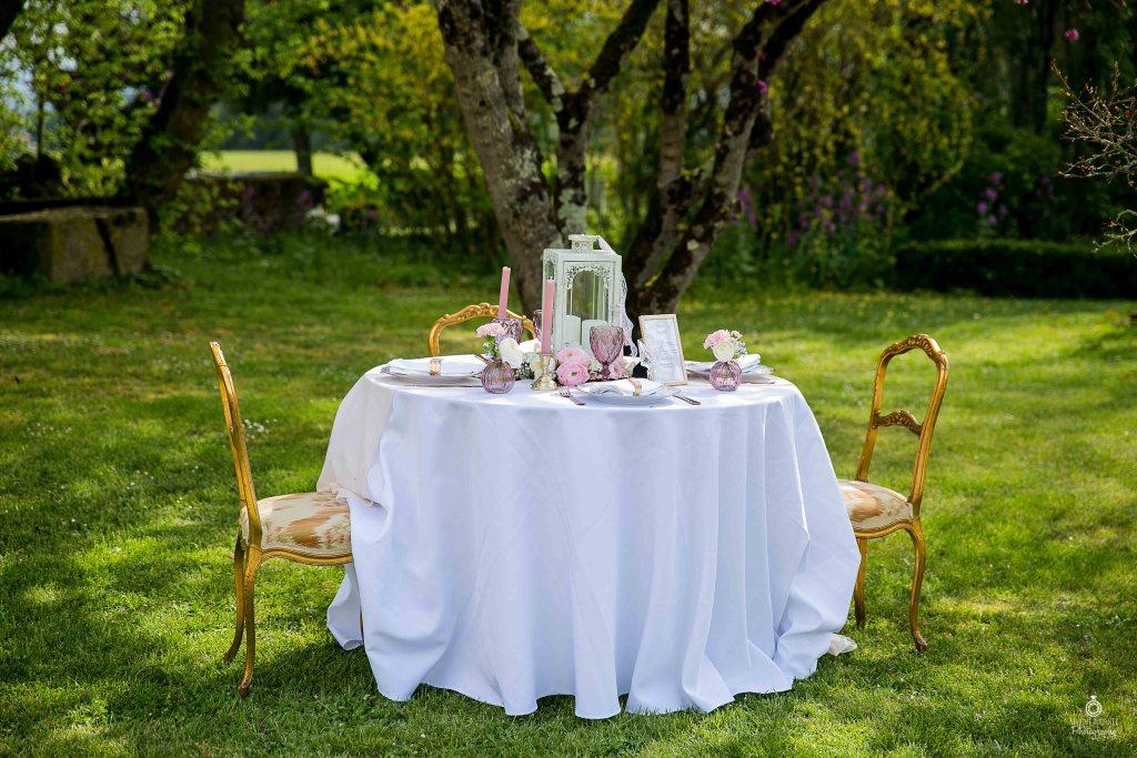 Table de mariage romantique