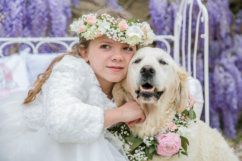 Décoration de mariage cortège violet