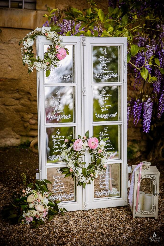 plan de table miroir fenêtre romantique chic