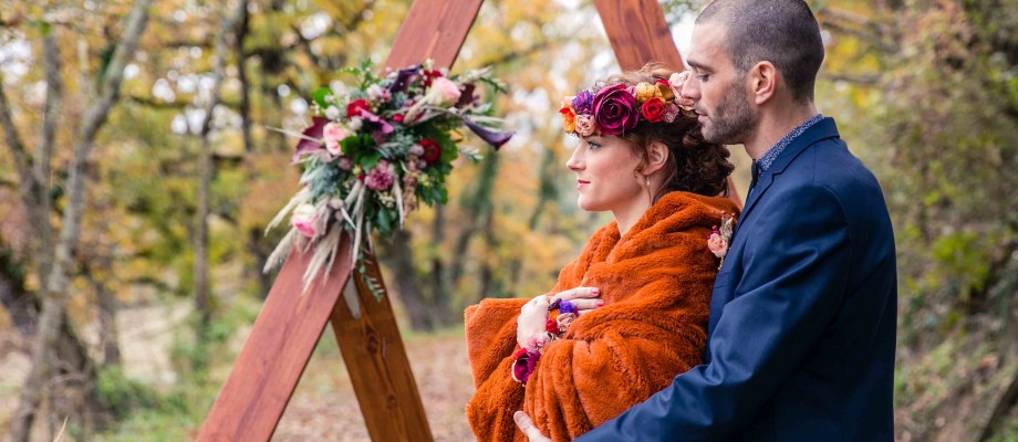Shooting d'inspiration – Se marier en automne