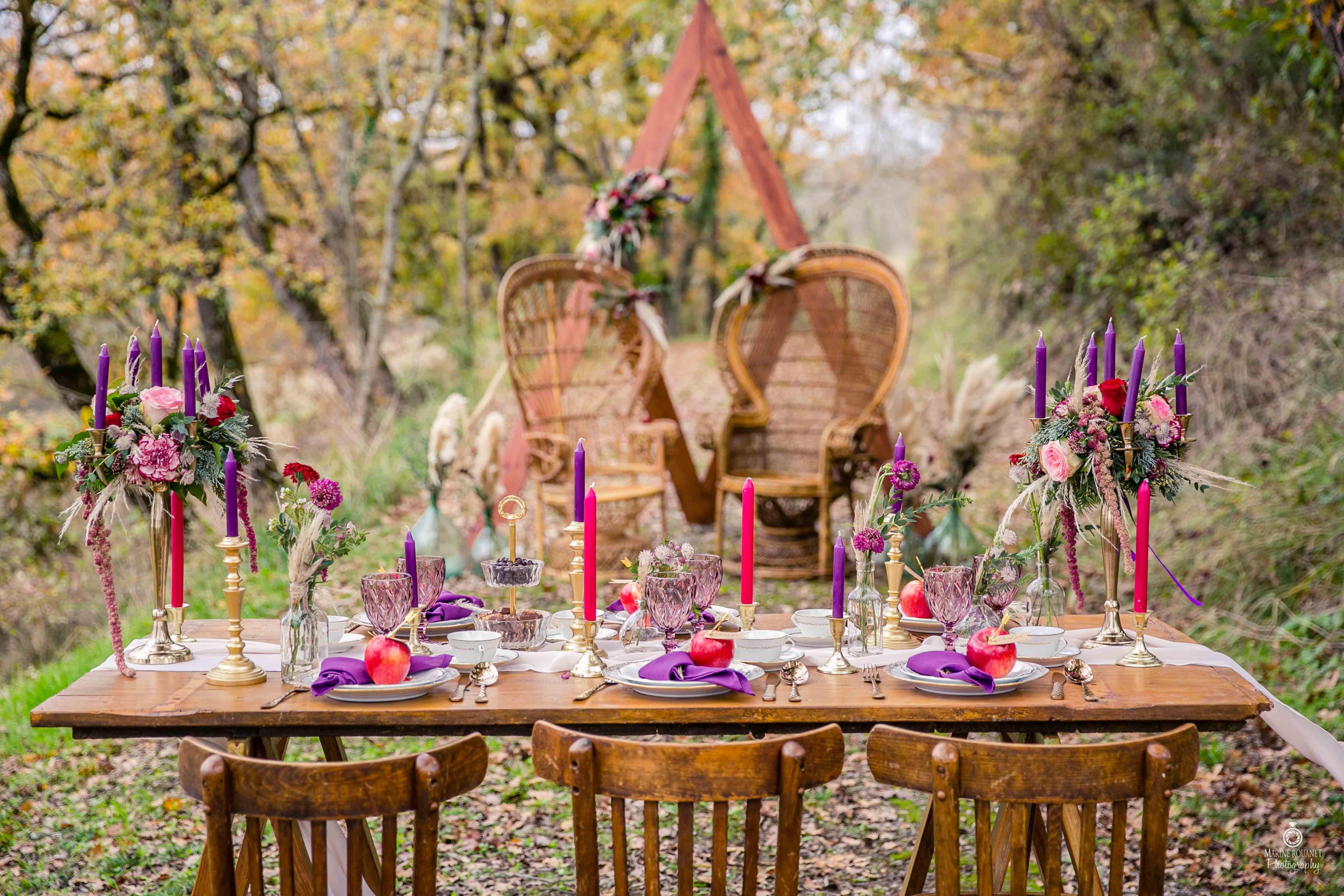 Shooting d'inspiration - Se marier en automne