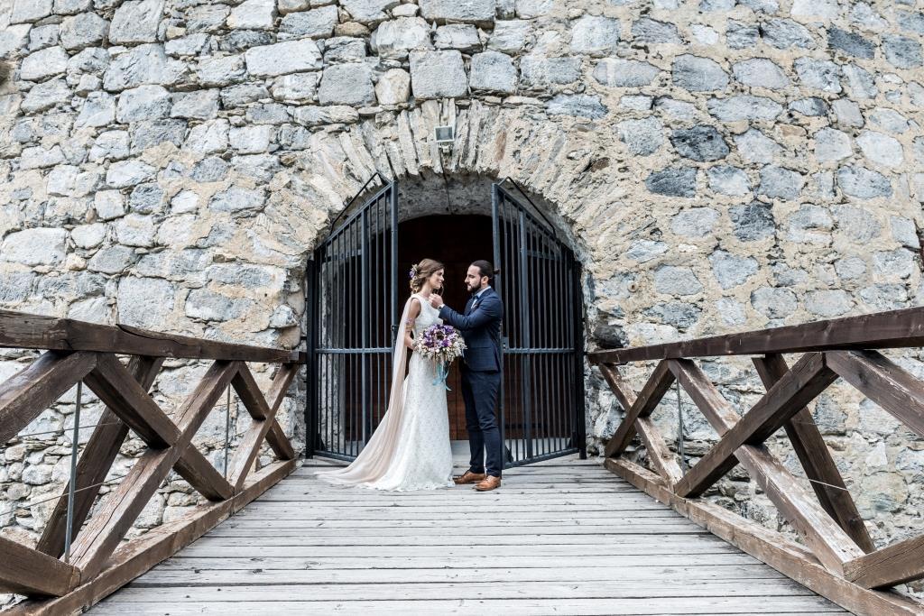 Mariage bohème dans un château