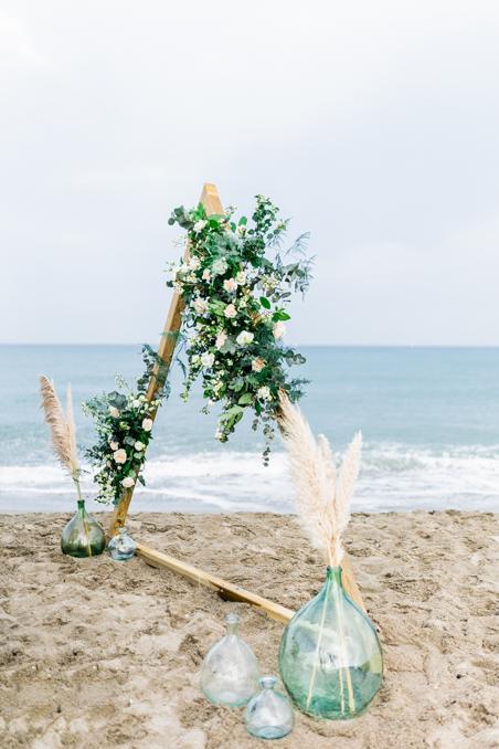 arche mariage à la mer
