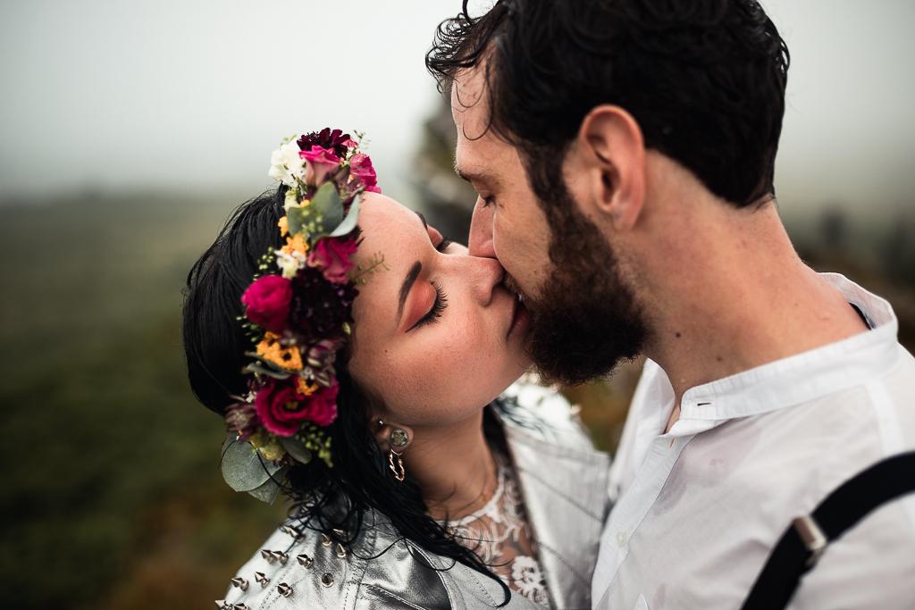 Baiser de mariés