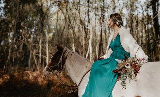 Mariage Western automnal à cheval