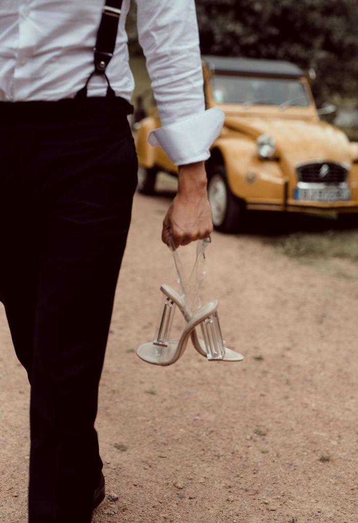 Chaussure de mariée ouvertes