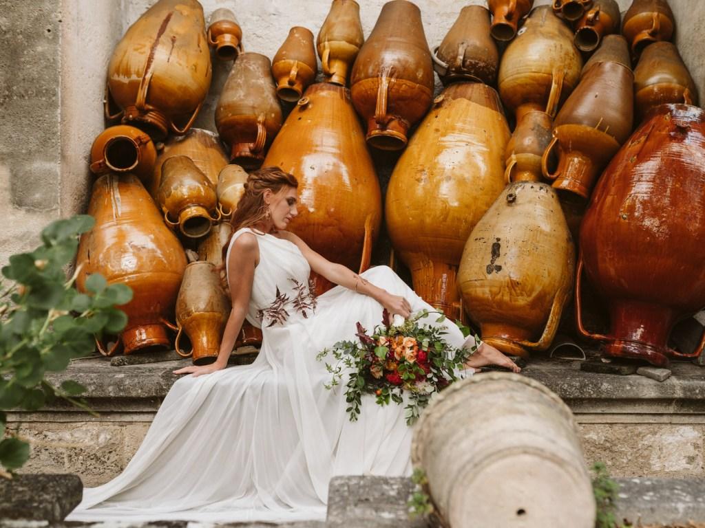 Bouquet de mariage Rome antique