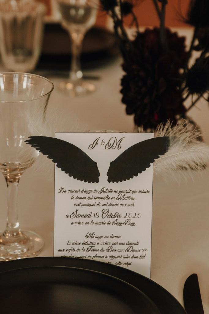 papeterie mariage en noir et blanc