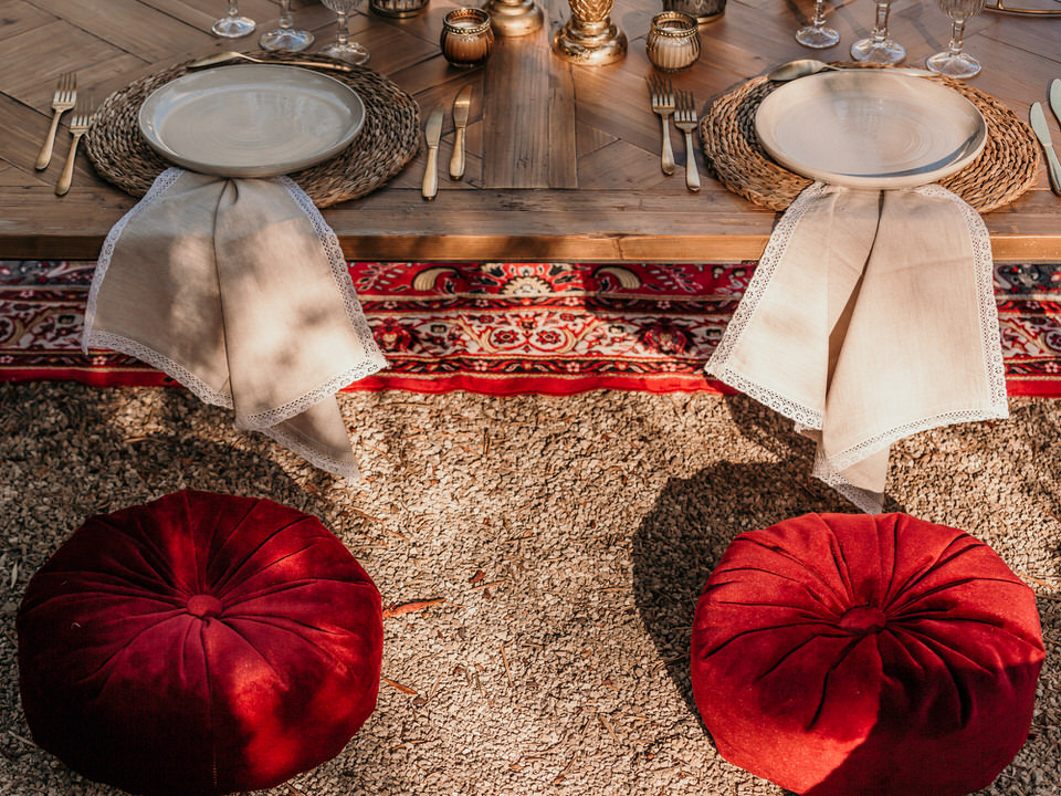 table de mariage influences orientales
