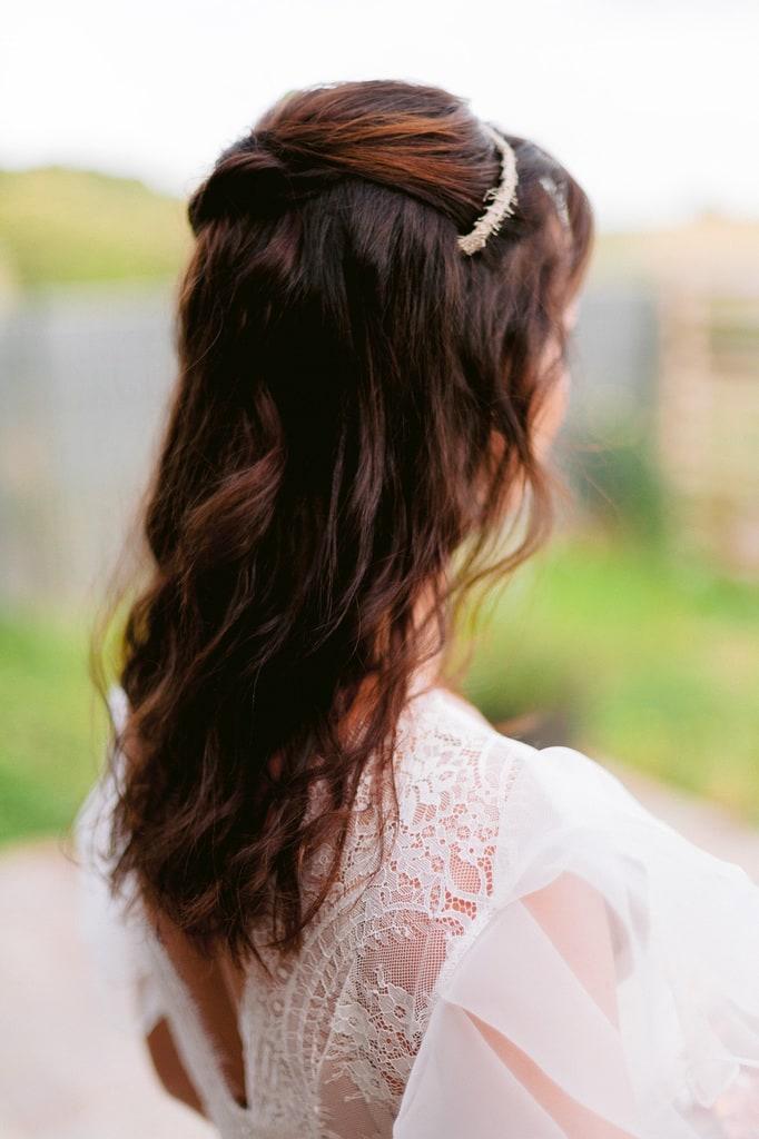 Coiffure de mariage cheveux lâchés