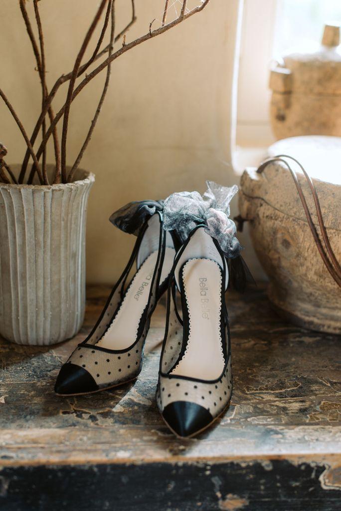 chaussures de mariage noire