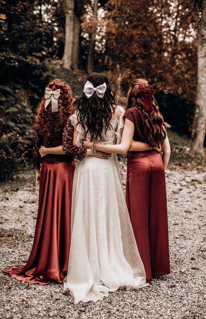 Demoiselles d'honneur robes rouges