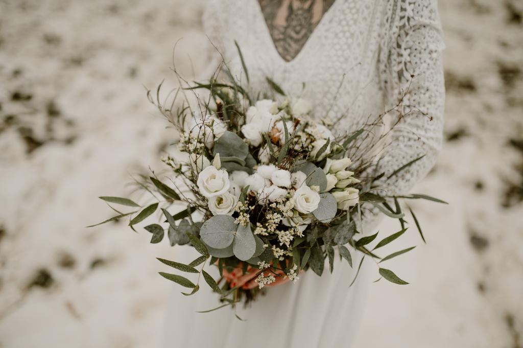bouquet de mariage fleurs blanches