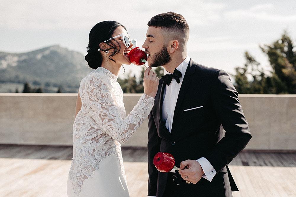 Shooting d'inspiration Saint Valentin mariage rose et rouge