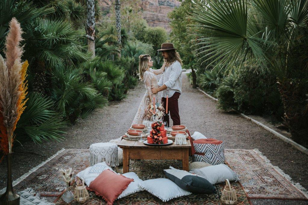 Mariage alternatif Coachella décoration de table