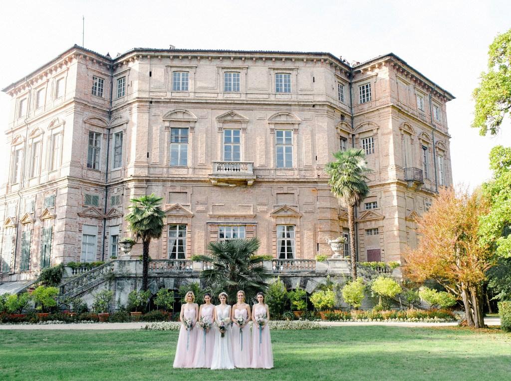 Demoiselles d'honneur et témoins de mariage robes roses