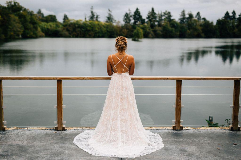 robe de mariée Mariage gipsy Folk bohème