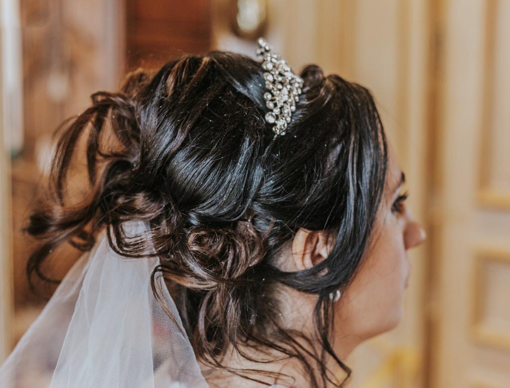 Mariage au château coiffure
