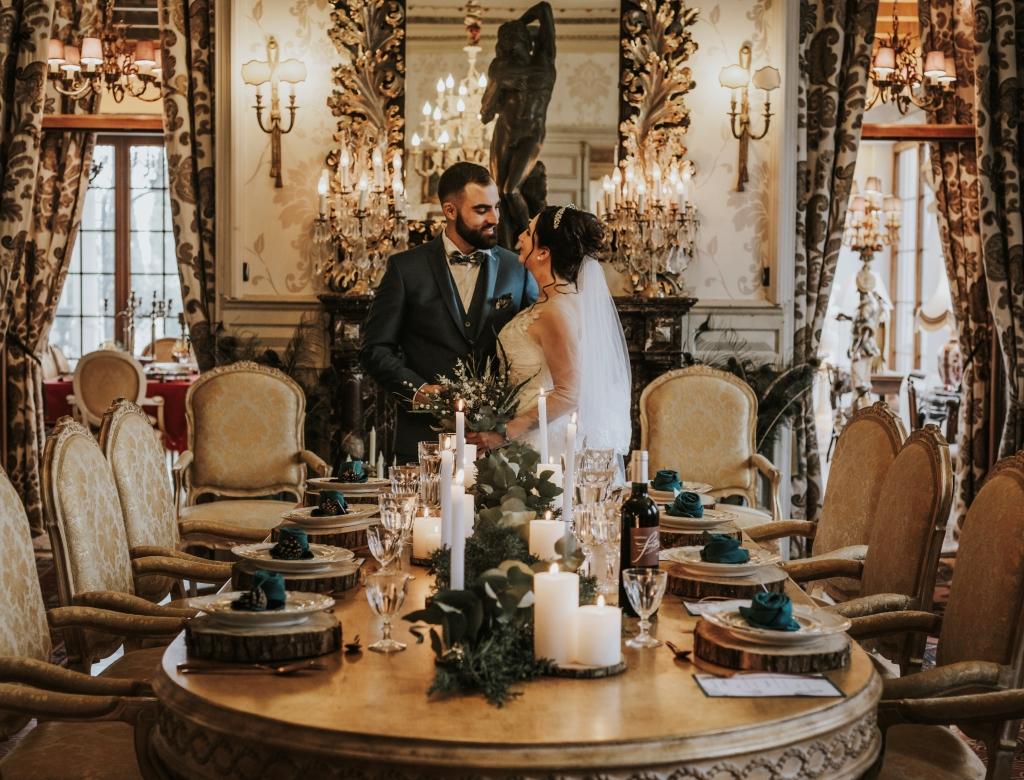 Mariage au château table de mariage