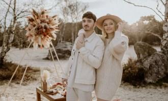 séance engagement mariage à la plage