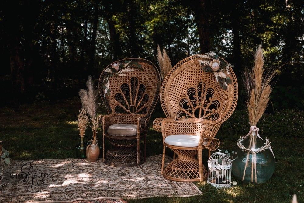 chaises cérémonie laïque mariés