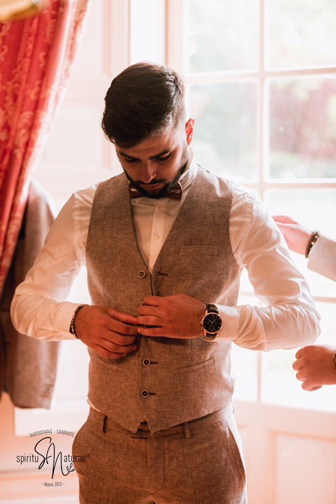 costume gris mariage