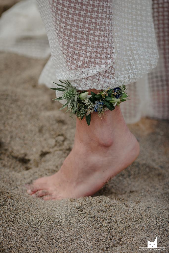 Accessoires de mariage pieds