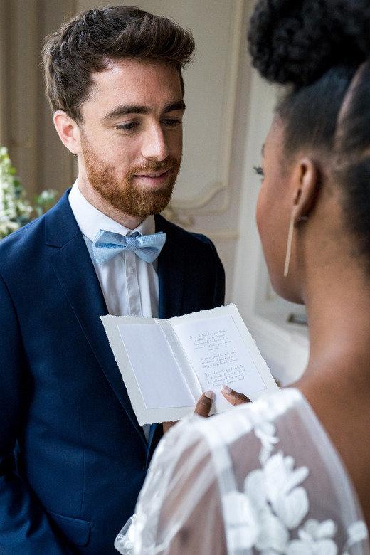 échange de voeux entre mariés