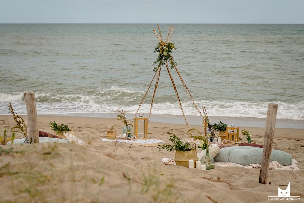 Décoration de mariage mer