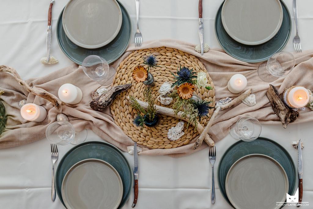 Décoration de table marine
