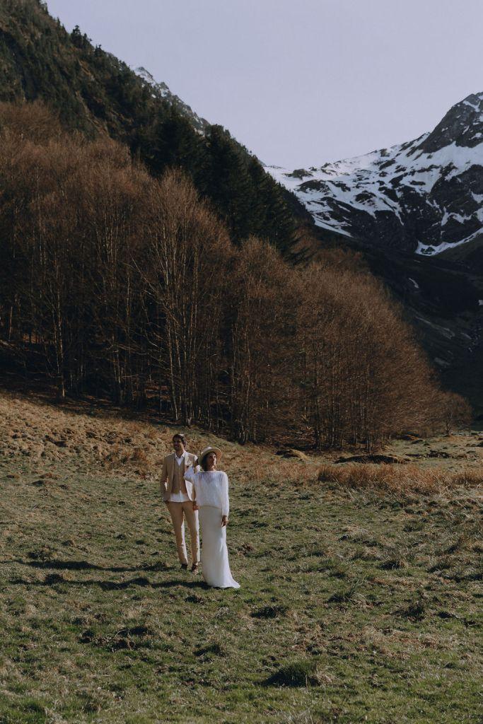 Elopement en plein air dans les Pyrénées