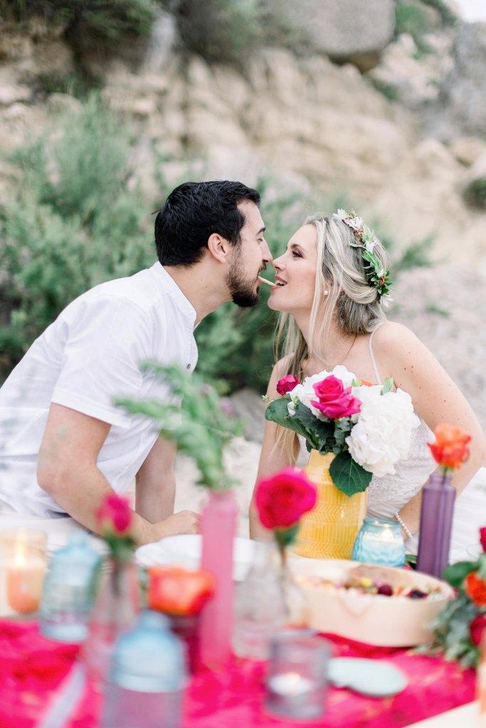 diner de mariage sur la plage