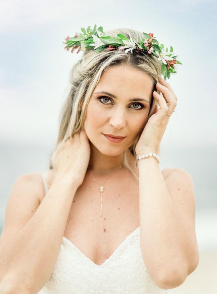 couronne de fleurs accessoire mariage