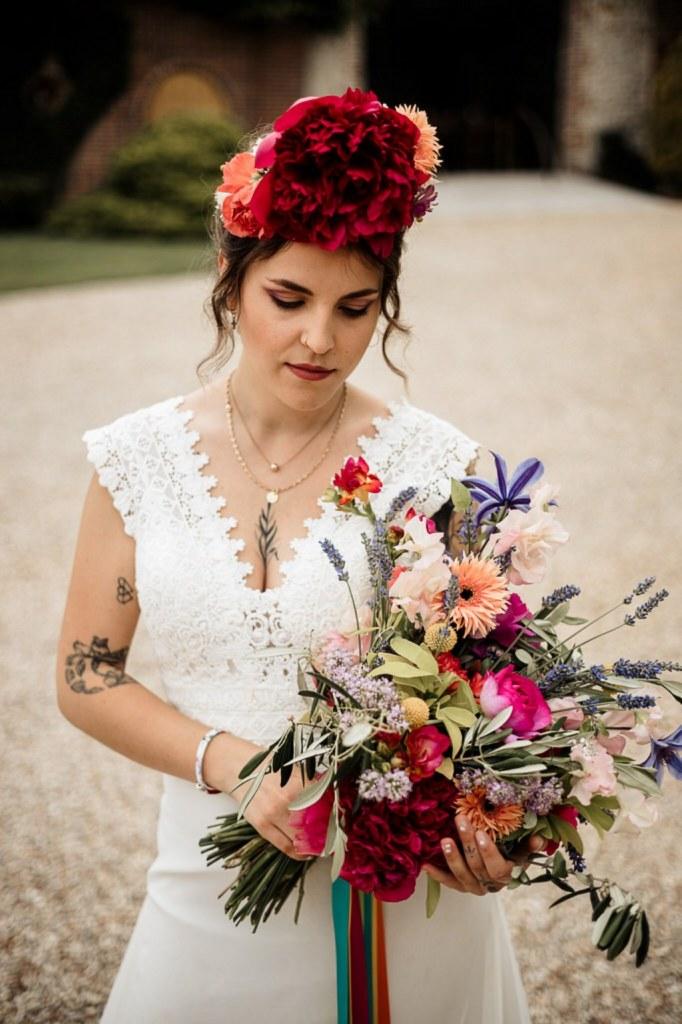 accessoires fleuris colorés