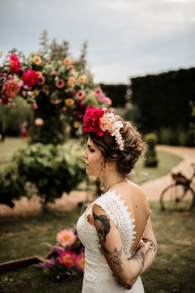 couronne fleurie mariage