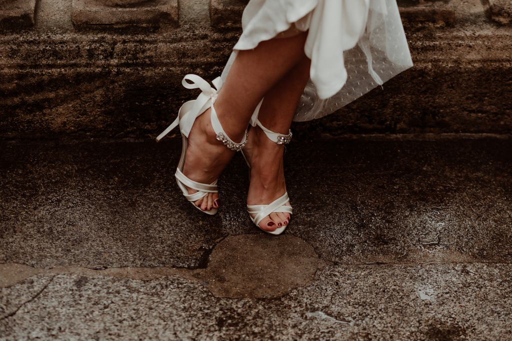 chaussures de mariage blanches sexy