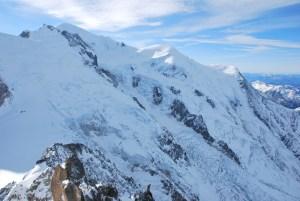 Hiver à Chamonix Mont Blanc - panorama depuis l'Aiguille du midi
