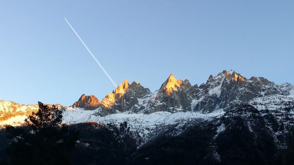 Hiver à Chamonix Mont Blanc - chaîne des Aiguilles