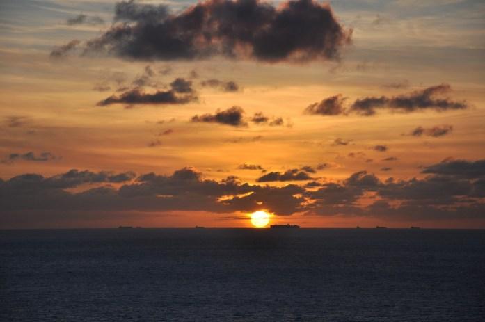 Une journée aux falaises d'Etretat - coucher de soleil