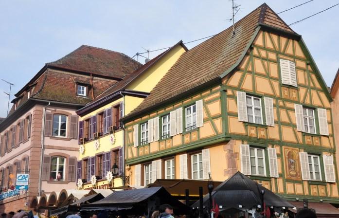 Le marché de Noël médiéval de Ribeauvillé - maisons à colombages