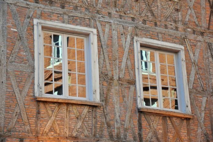 Toulouse - façade à colombages de la rue Croix-Baragnon