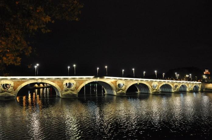 toulouse-mariniere-garonne-pont-neuf-nuit