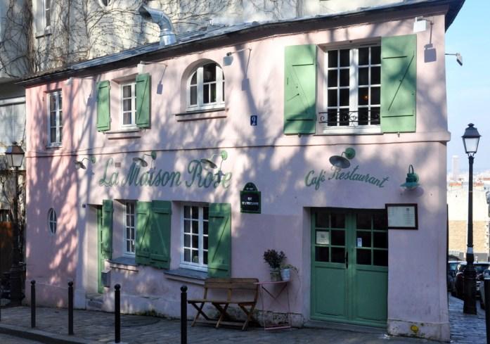 Paris - la maison rose de Montmartre