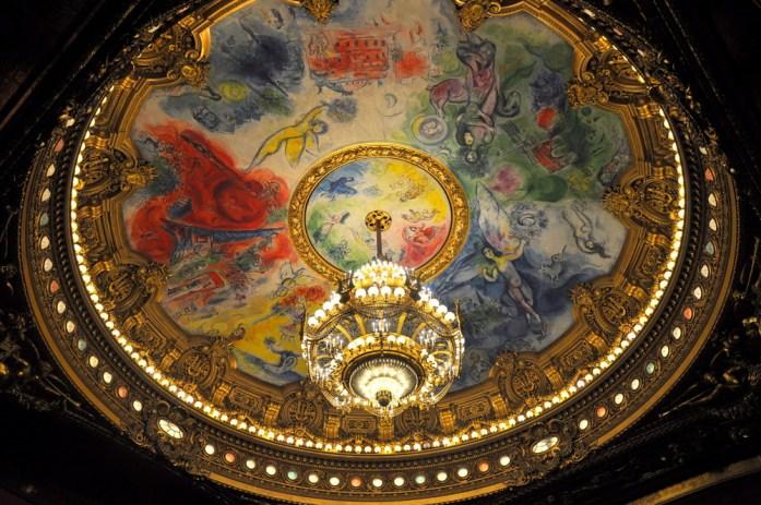 Paris - la coupole de l'opéra Garnier