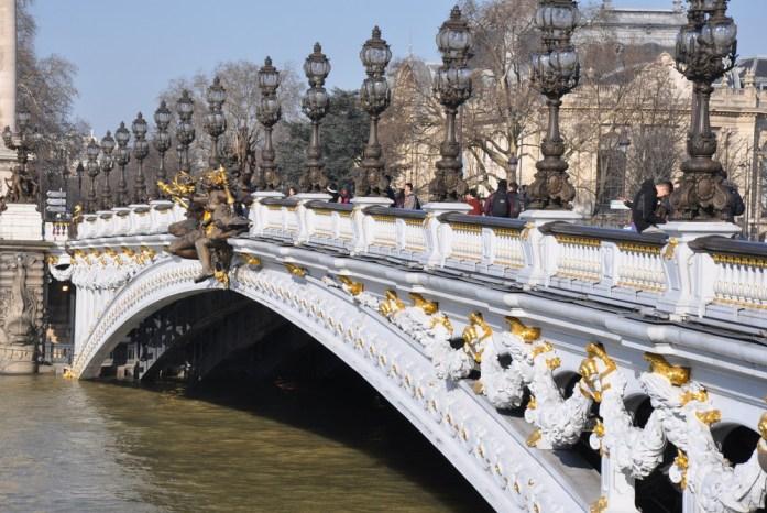 Paris - architecture du pont Alexandre III