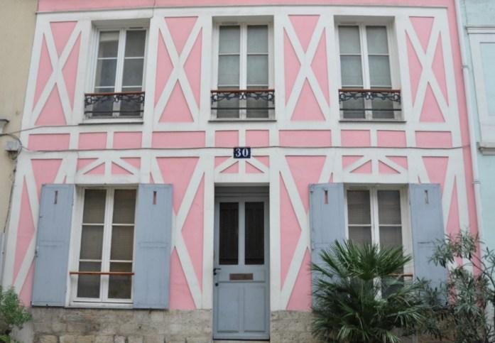Paris - maison rose de la rue Crémieux