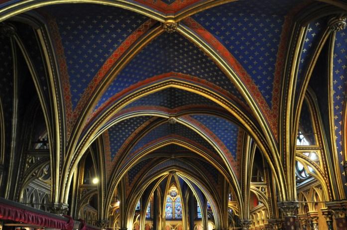 Paris - La chapelle basse de la Sainte Chapelle