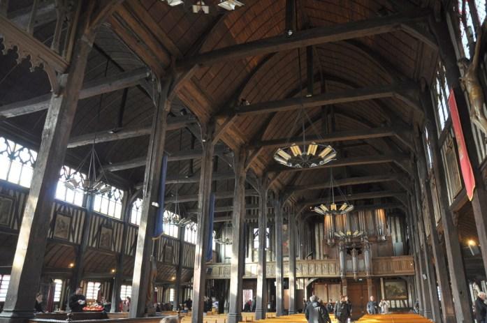 Intérieur de l'église Sainte Catherine de Honfleur